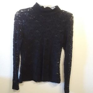 H&M Sheer Lace Long Sleeve Top